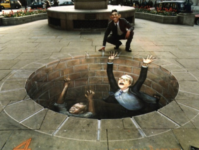"Julien Beever, ""Politicians Meeting their End"""