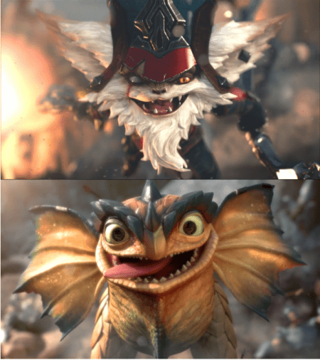 Kled looks like toothless