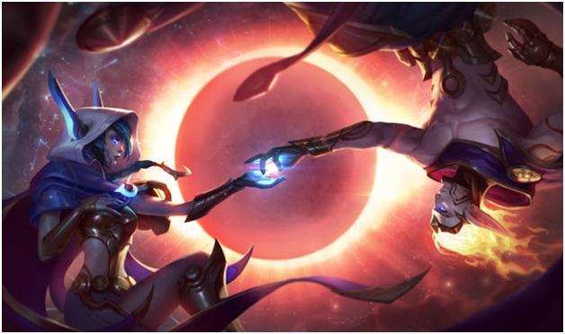 Cosmic Dawn Xayah and Cosmic Dawn Rakan