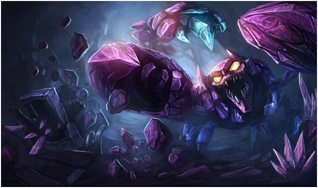 Skarner the outdated league of legend champion.