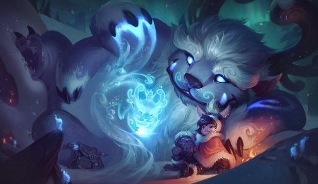 Nunu and Willump's Skills As Played In A Gaming Computer.