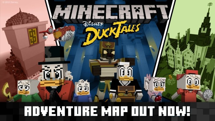 Know the ducktales adventure map released by minecraft.