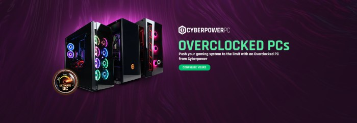 Cyberpower UK Overclocked PC banner
