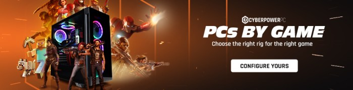 Cyberpower PC by Game banner