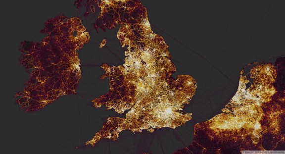 A Slice of the UK from the Global Heatmap.