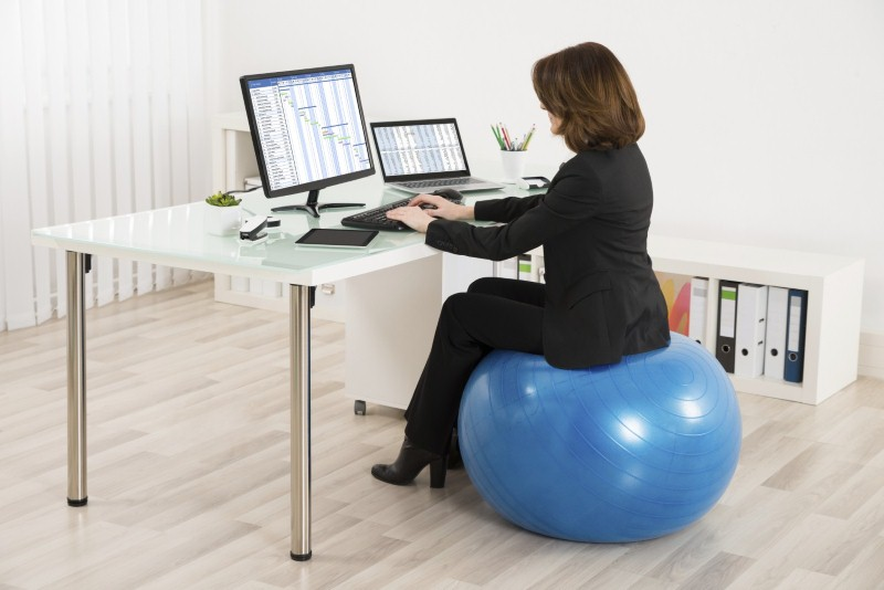 office chair alternatives mat for hardwood floor get fit at work with desk