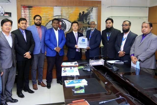 Delegation From The Jiangxi Normal University (JNU), China Visited Daffodil International University.