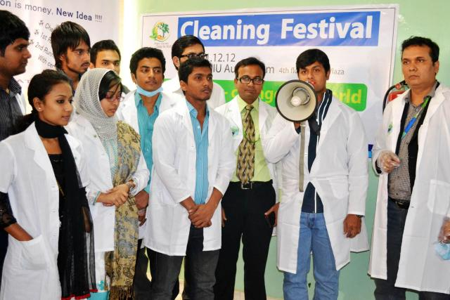 Cleaning Campaign on The University Campus
