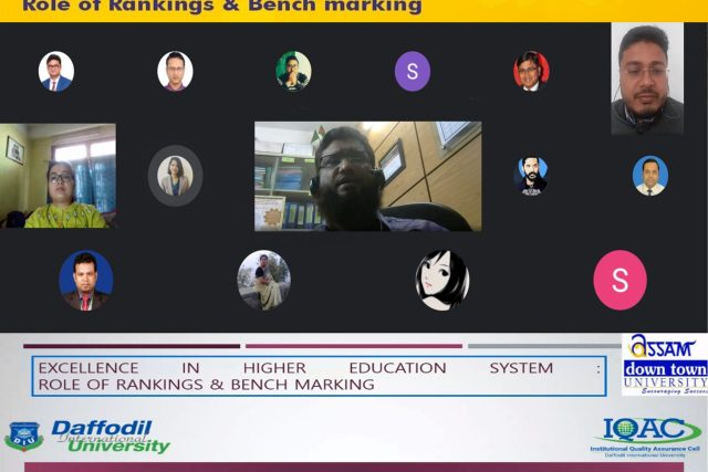 "Webinar on ""Excellence in Higher Education system: Role of Rankings & Benchmarking"""