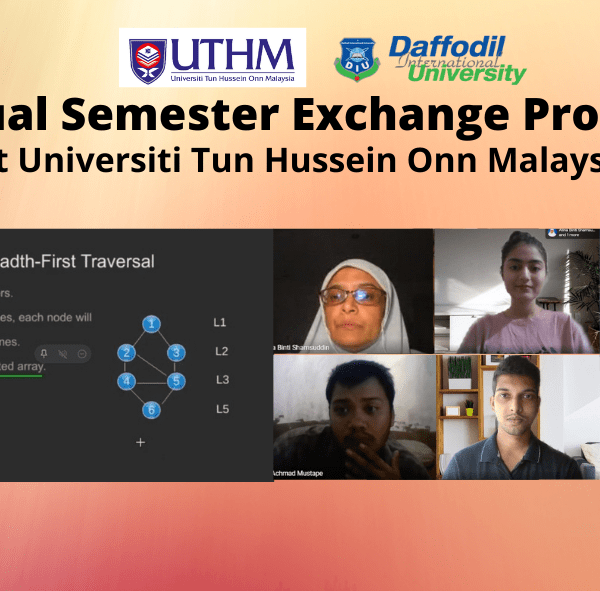 DIU Students Join Virtual Semester Exchange Program at UTHM Malaysia