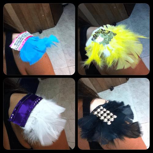 Penas e plumas para abadá de carnaval