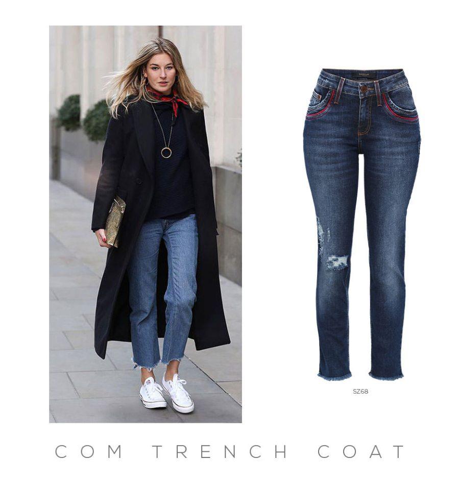 Como usar calça cropped com casaco