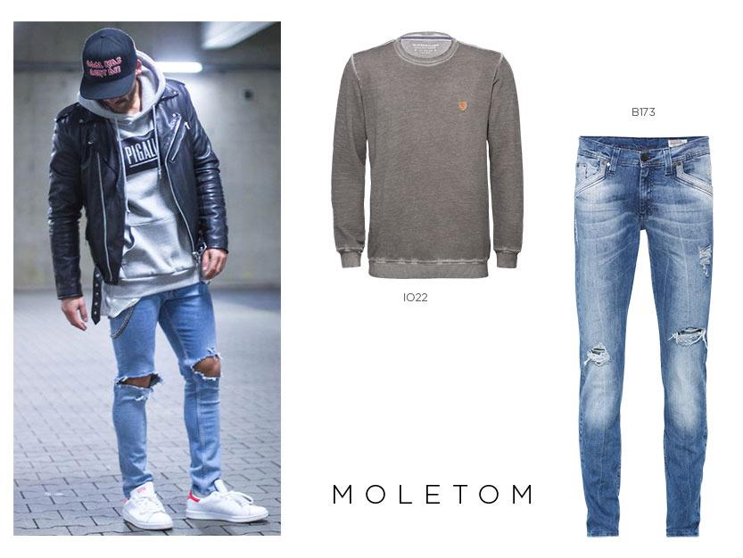 moletom com calça jeans masculina