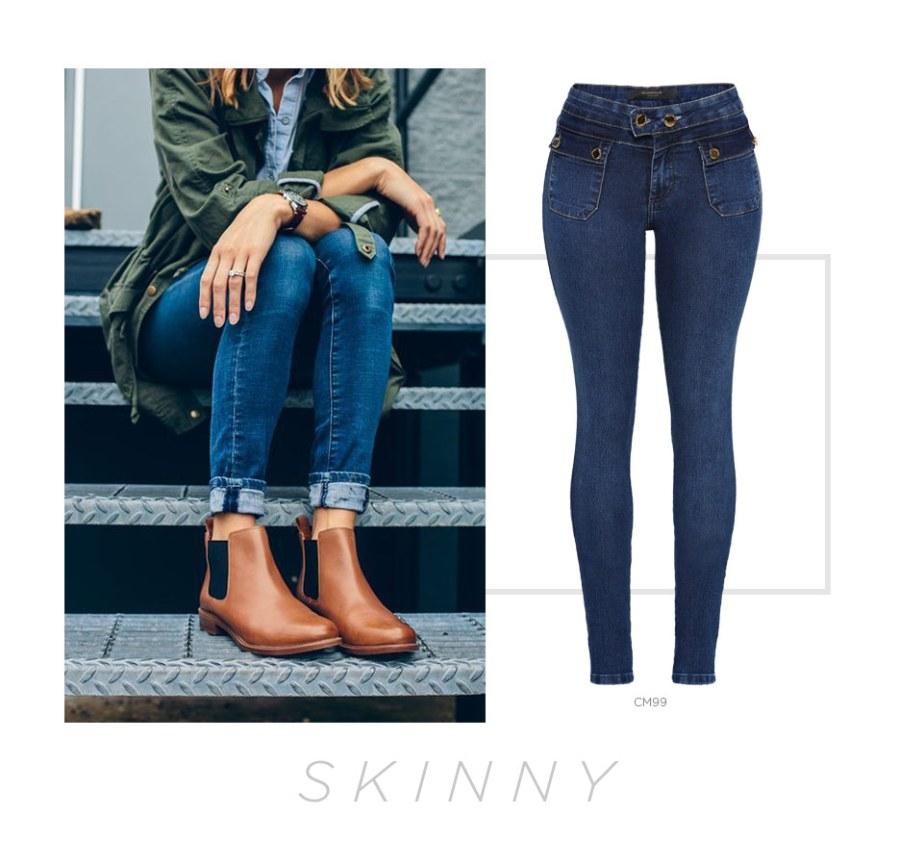 calças jeans skinny
