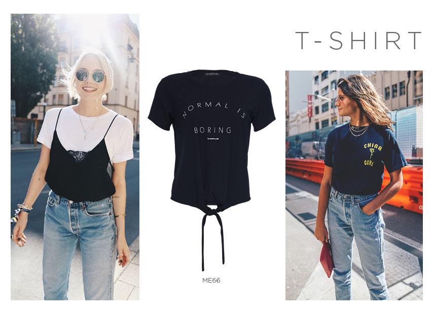 t-shirt tendências anos 90