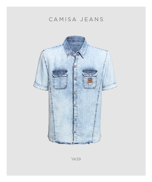 Peças masculinas - Camisa jeans