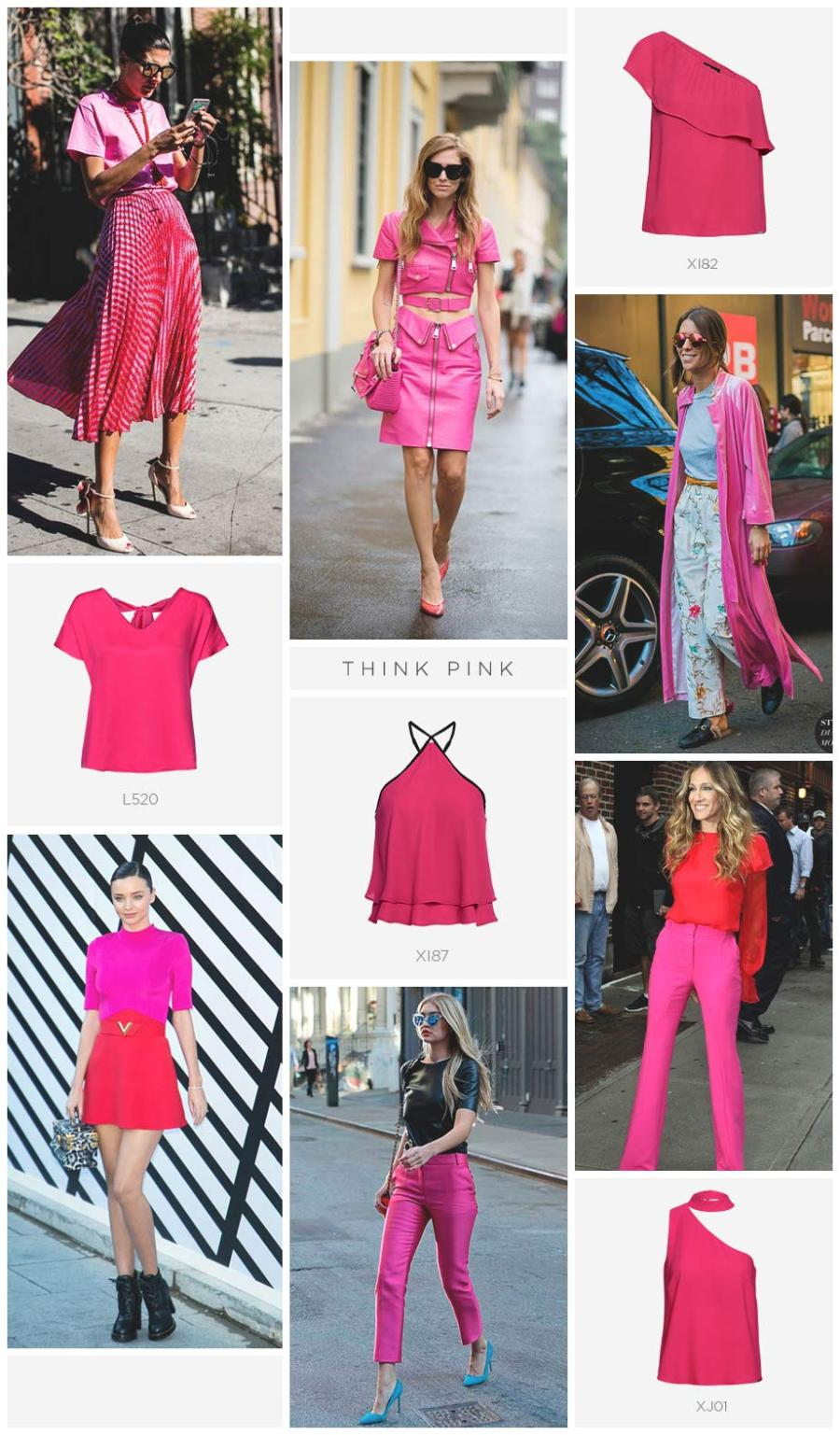 Como usar roupas pink no street style