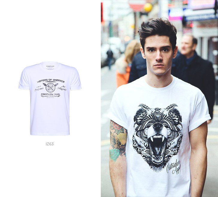 camiseta minimalista masculina