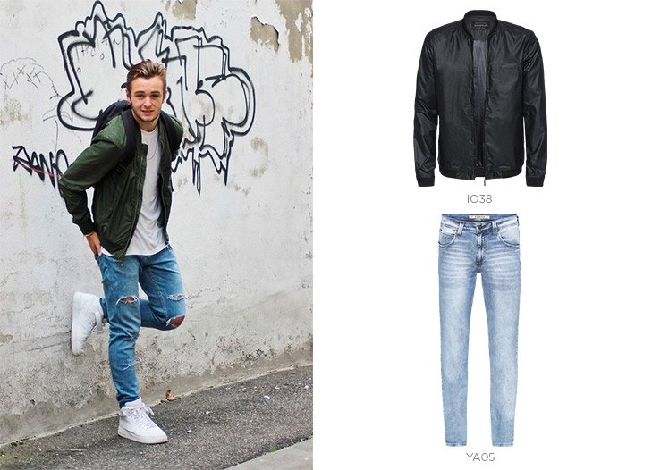 jeans masculino e jaqueta bomber