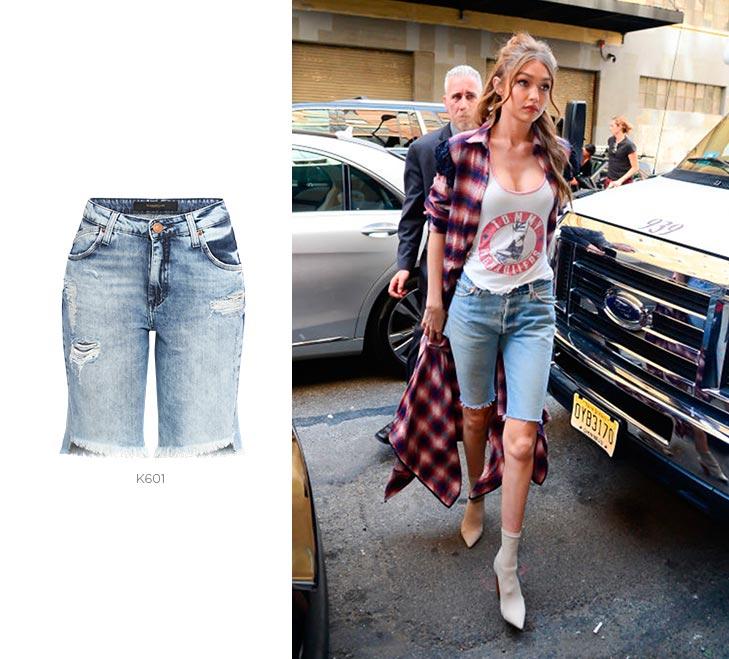 looks com bermudas jeans