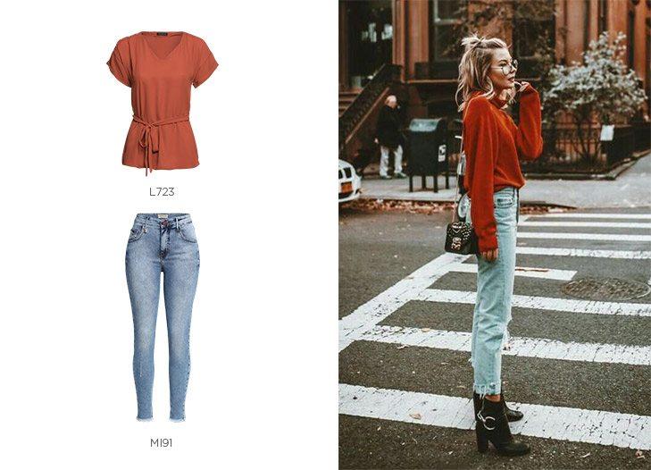 terracota jeans e botas