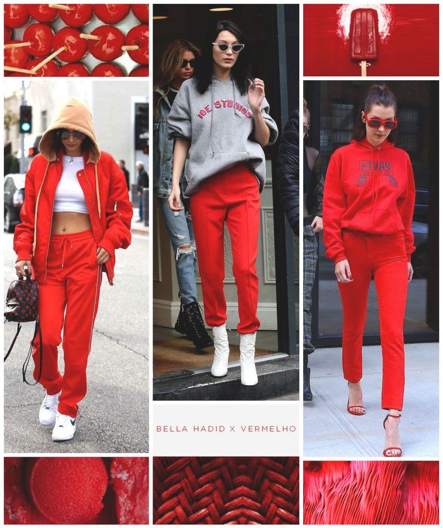 bella hadid vermelho