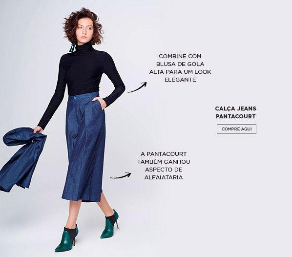 Peças jeans essenciais - Pantacourt