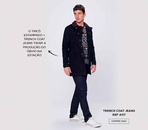 tricô estampado masculino