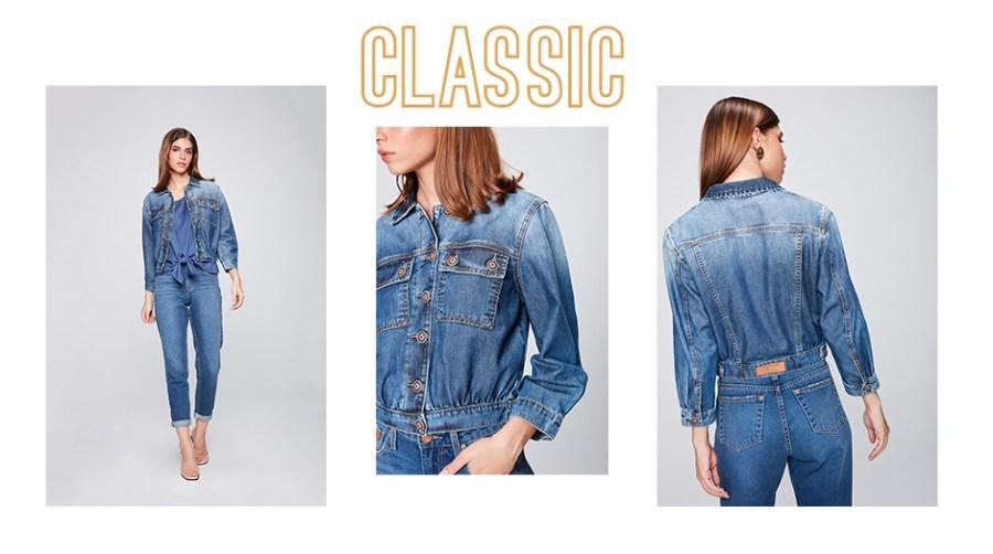 Look jeans vintage clássico