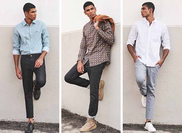camisa social algodão peruano