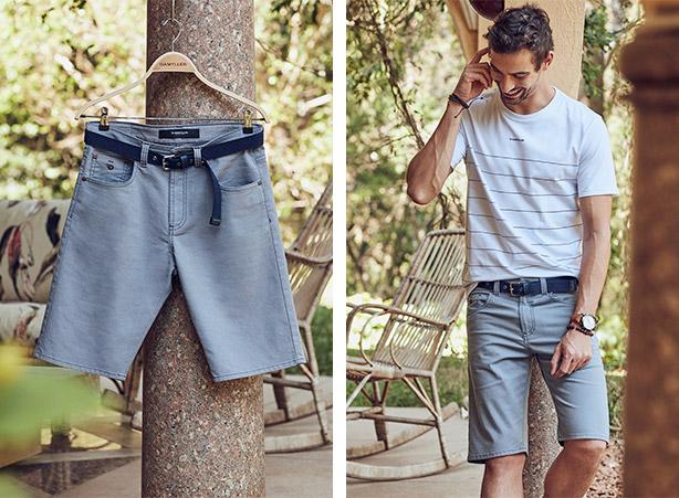 Bermuda jeans slim masculina