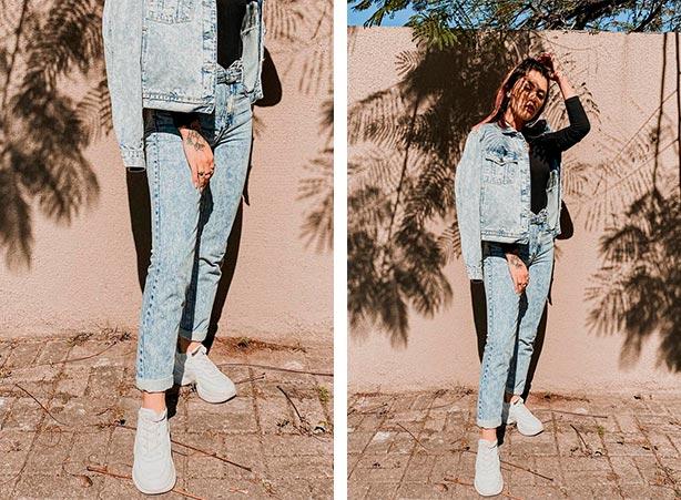 Clochard com jaqueta jeans