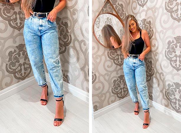 Look com calça jeans clara e regata