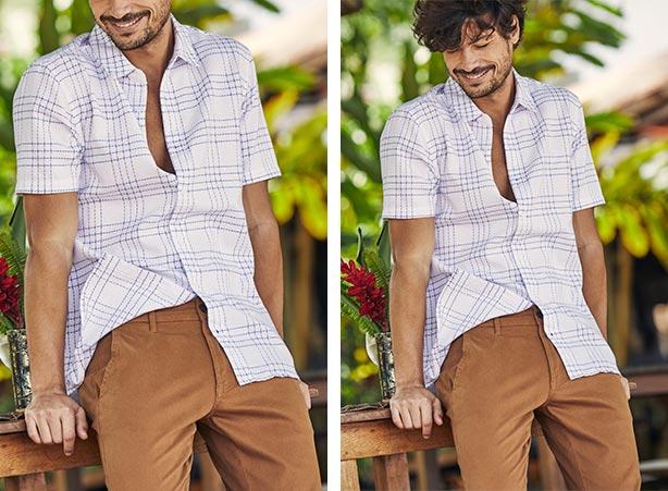 Looks casuais com camisa e calça caqui ou caramelo