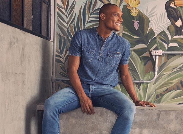 Looks casuais em total jeans