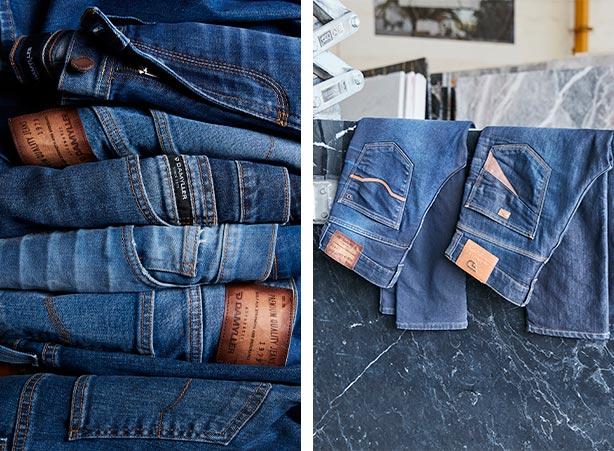 Lavar diferentes tipos de calça jeans