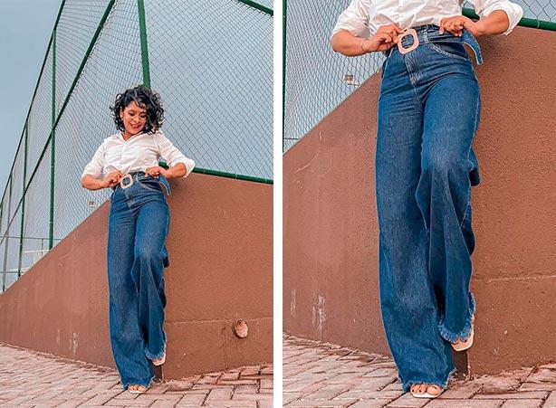 Tipos de calças jeans femininas: Calça pantalona vintage