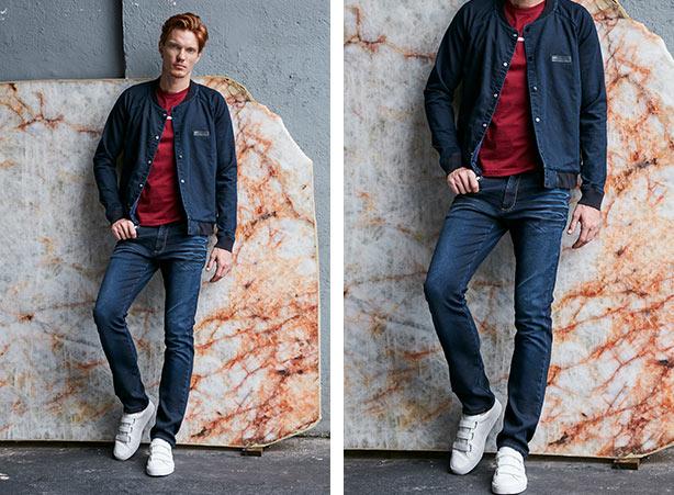 Jaqueta jeans e calça jeans masculina no mesmo tom