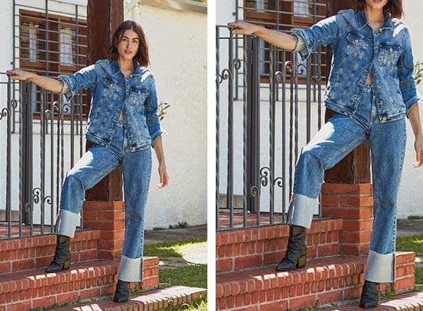 Bota com look total jeans