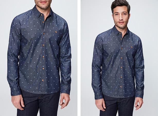 Camisas masculinas no Tag