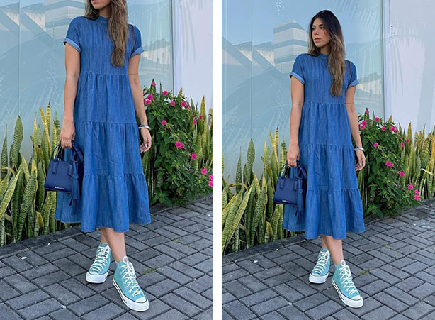 Breezy dress midi