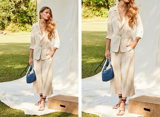 Conjuntinho de verão com calça pantacourt