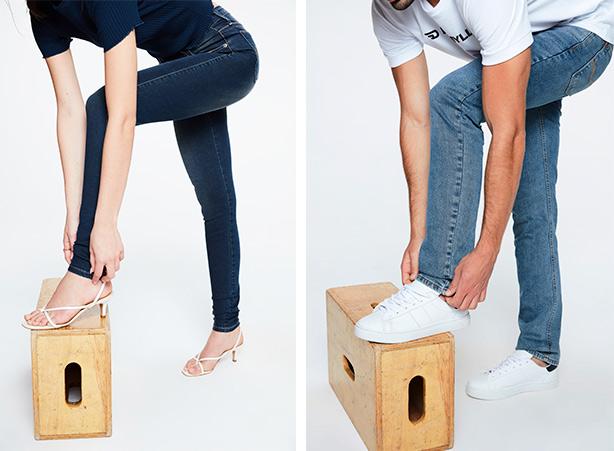 Como dobrar a barra da calça - Passo 01