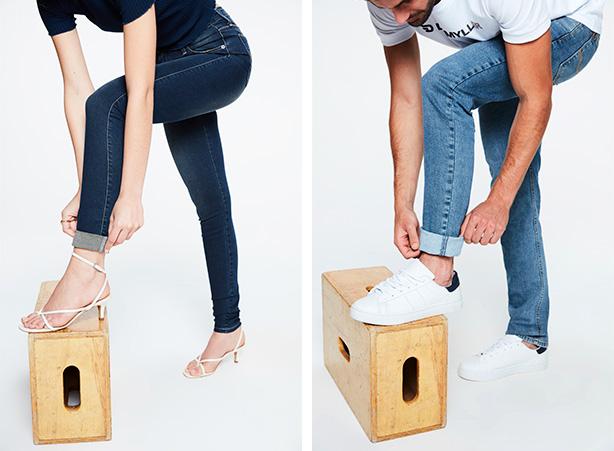 Como dobrar a barra da calça - Passo 03
