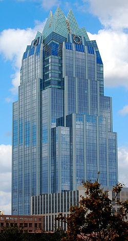 Техас штатының Остин деген астанасында «Фрост» банкінің штаб-пәтері.