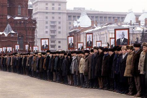 Похороны генсека Черненко на Красной площади.