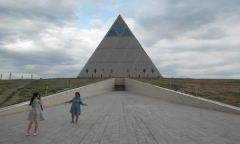 The Palace of Peace and Reconciliation pyramid, Aqmola.