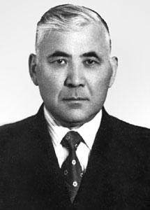 Outstanding Kazakh Soviet economist Tuimebai Ashimbayev (1918-1995). His researches primarily focused on industrial development and technical progress in Kazakhstan.