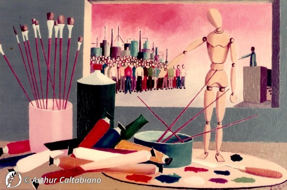 "Dantebus - ""Raccontare con la pittura"" Arthur Caltabiano"