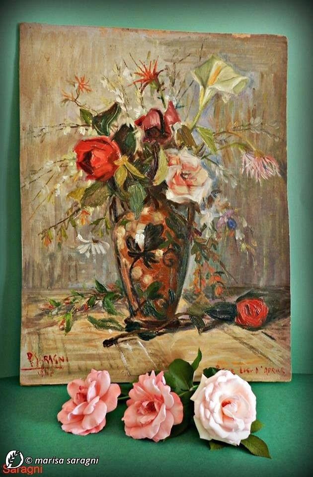 """Dantebus - """"Quadro ad olio dipinto su tavoletta di legno nel 1947 da mio padre"""" Marisa Saragni"""